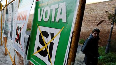 Referendumsplakat in Italien
