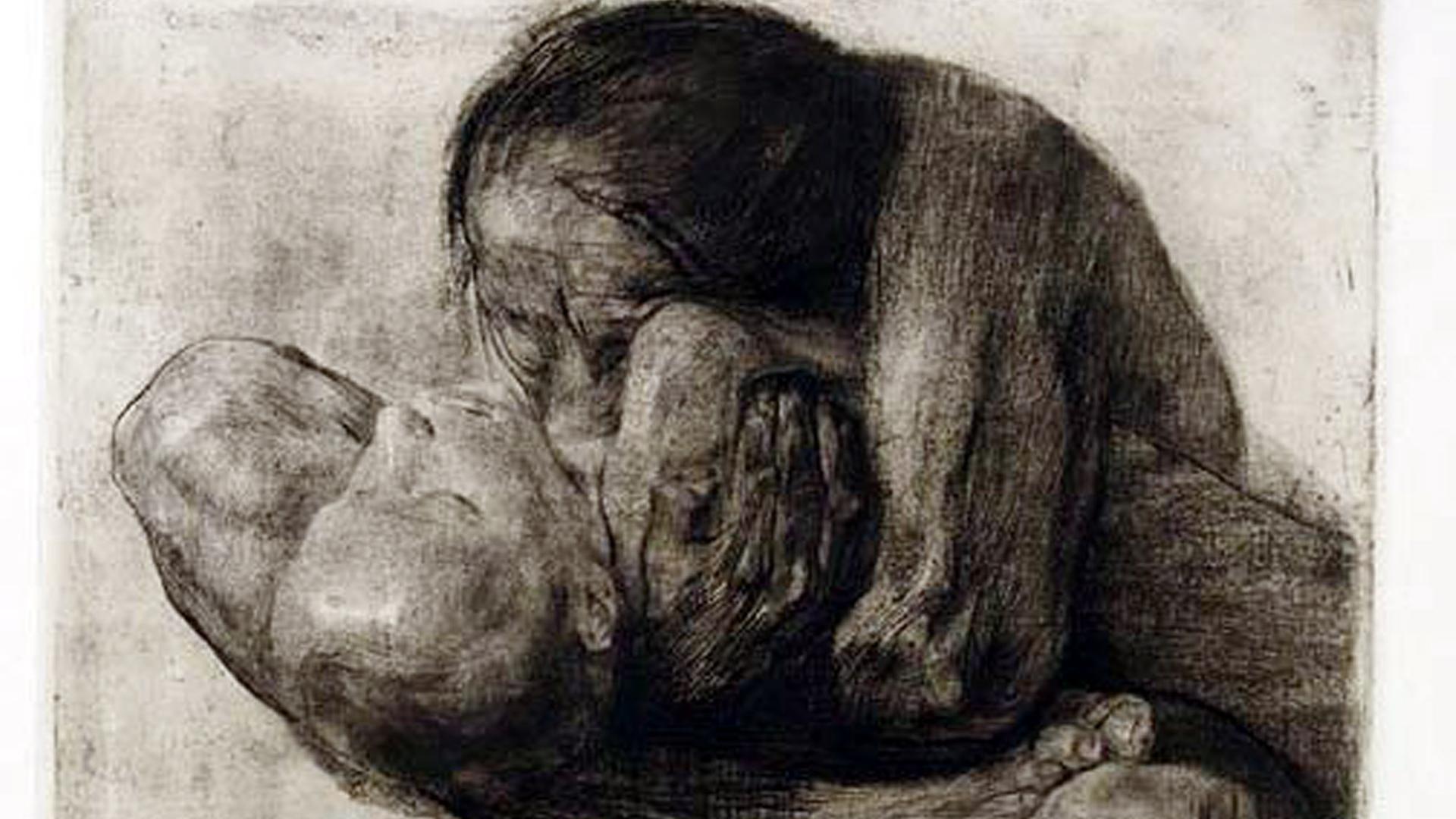 Käthe Kollwitz, Frau mit totem Kind