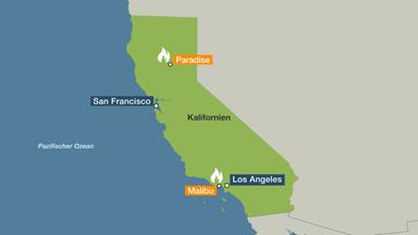 Kalifornien Karte.Waldbrände In Kalifornien Verlorenes Paradies Zdfmediathek