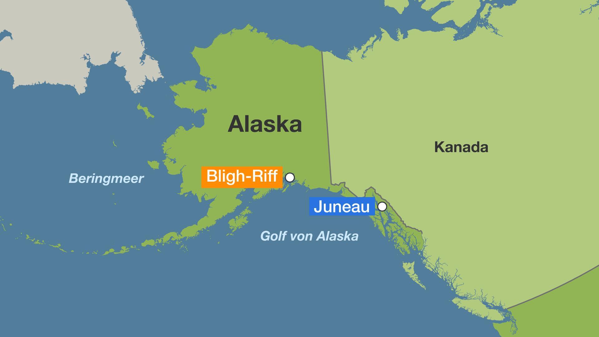 Golf Von Alaska Karte.30 Jahre Danach Exxon Valdez Olpest Alaska Leidet Noch