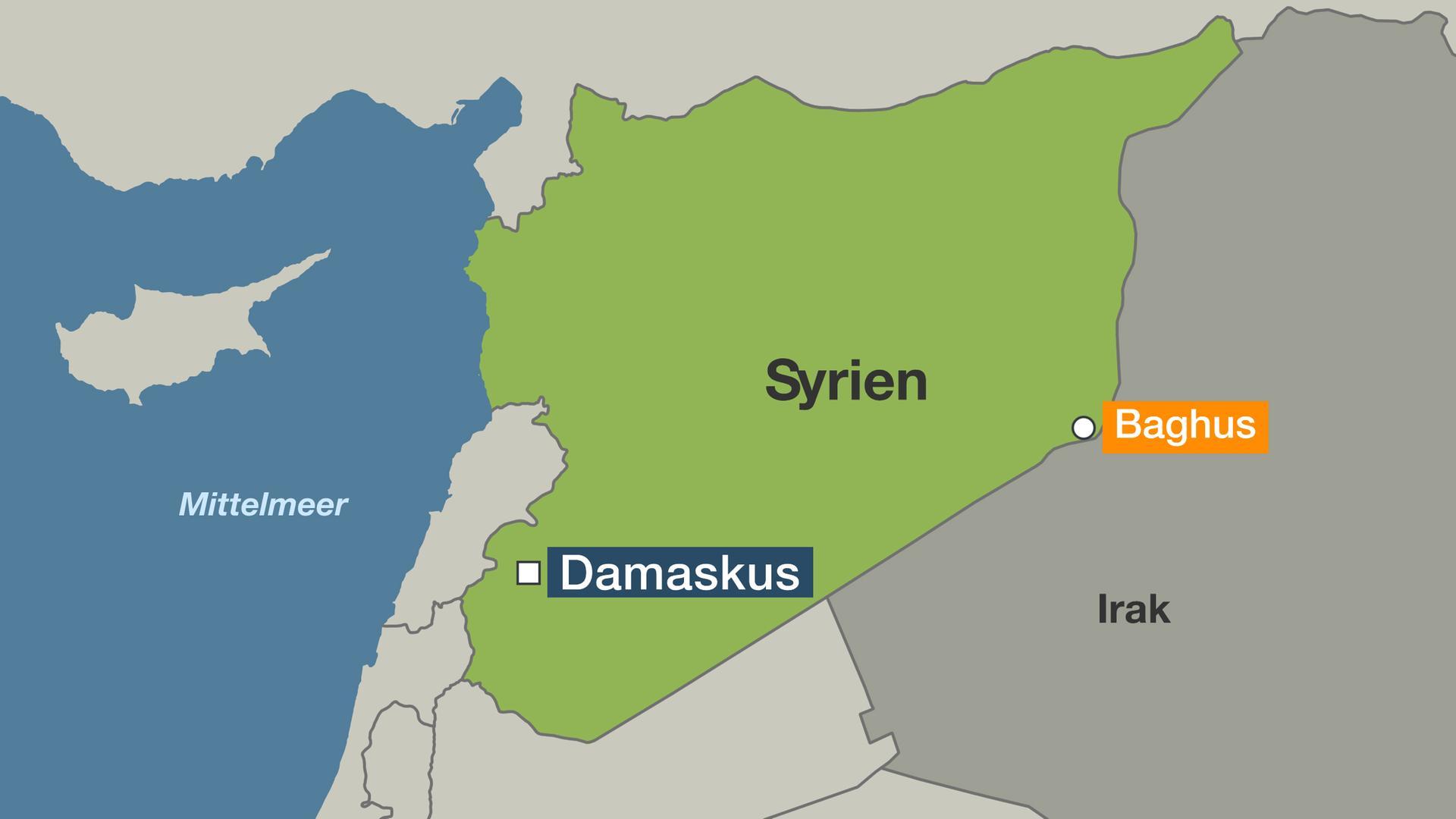 Karte Syrien Irak.Syrische Demokratische Krafte Letzte Is Bastion Baghus In
