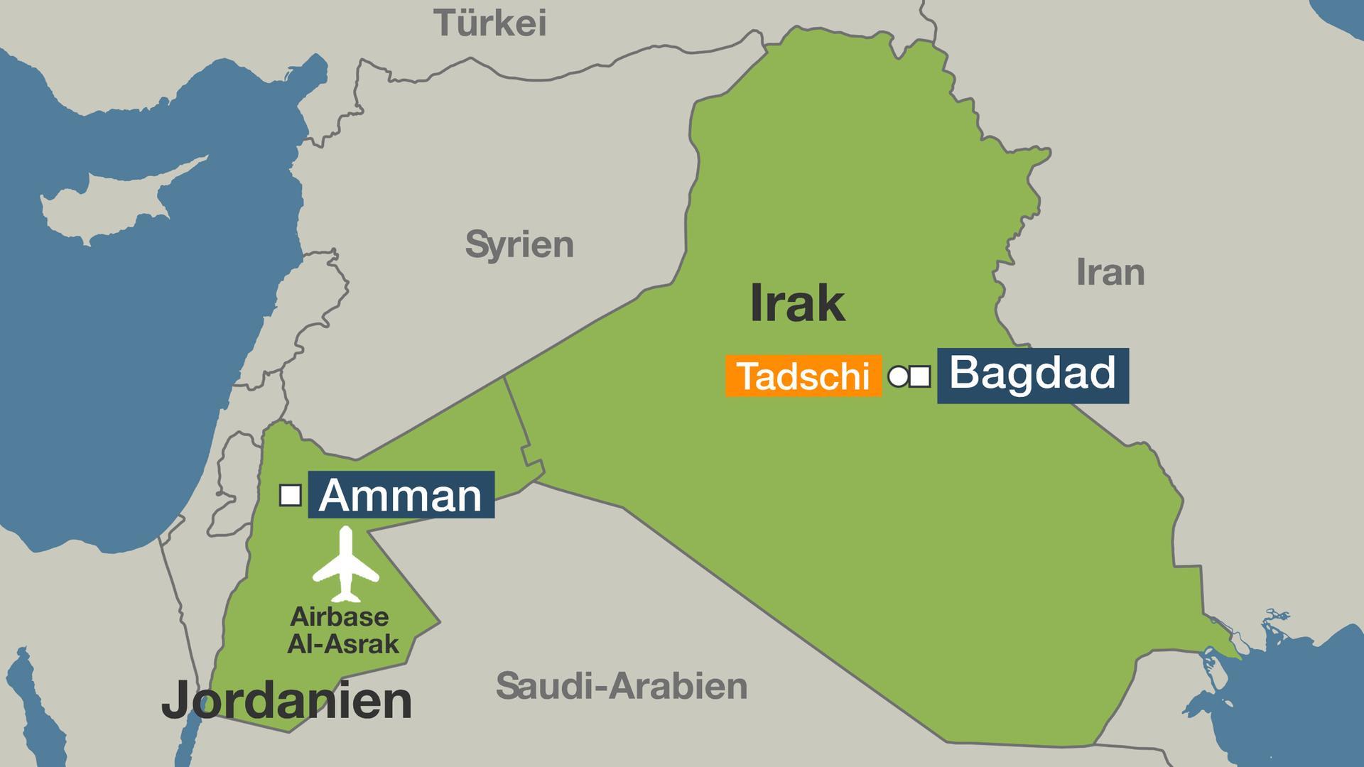 Syrien Irak Karte.Bundeswehr Setzt Ausbildung Im Irak Wegen Spannungen Aus Zdfmediathek