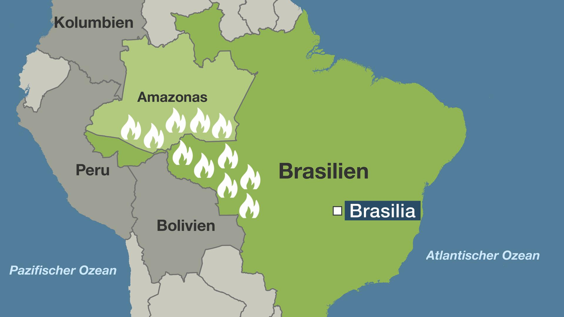 Waldbrände Alaska Karte.Brasiliens Wälder In Flammen Noch Nie Hat Es So Viel Gebrannt