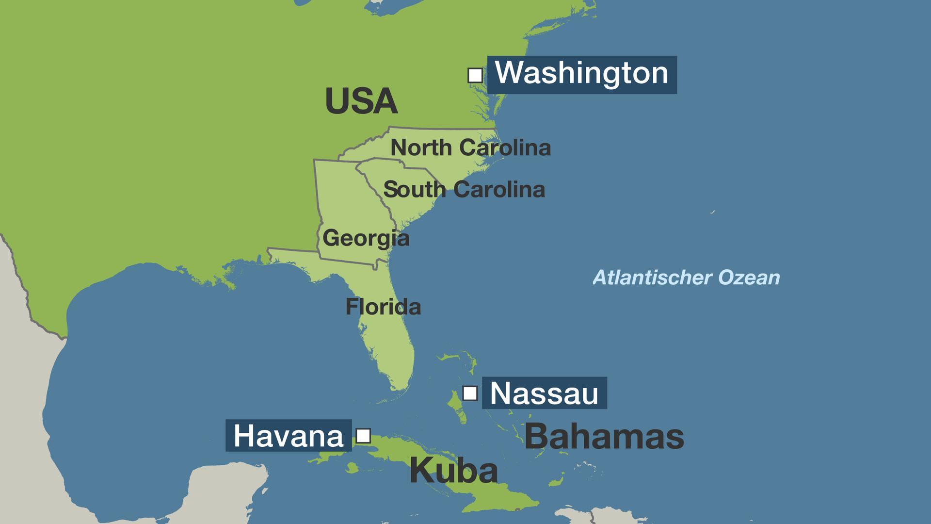 Karte Von Florida Westkuste.Hurrikan Zieht Nach Norden Us Ostkuste Bereitet Sich Auf