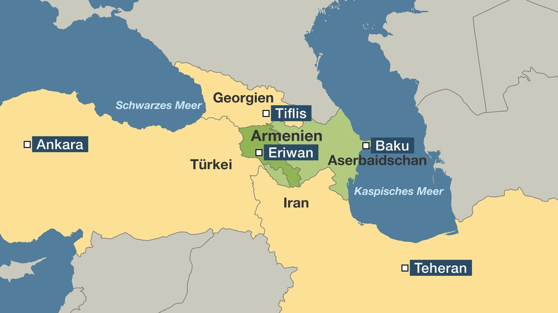 Karte Iran Nachbarlander.Armut Und Korruption Armenien Verliert Seine Zukunft