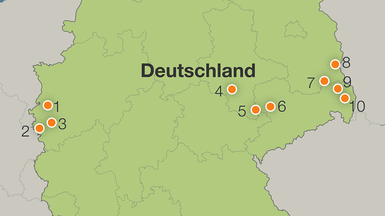 braunkohlegebiete in deutschland karte Alle Braunkohle Reviere: Das sind Deutschlands letzte Tagebaue