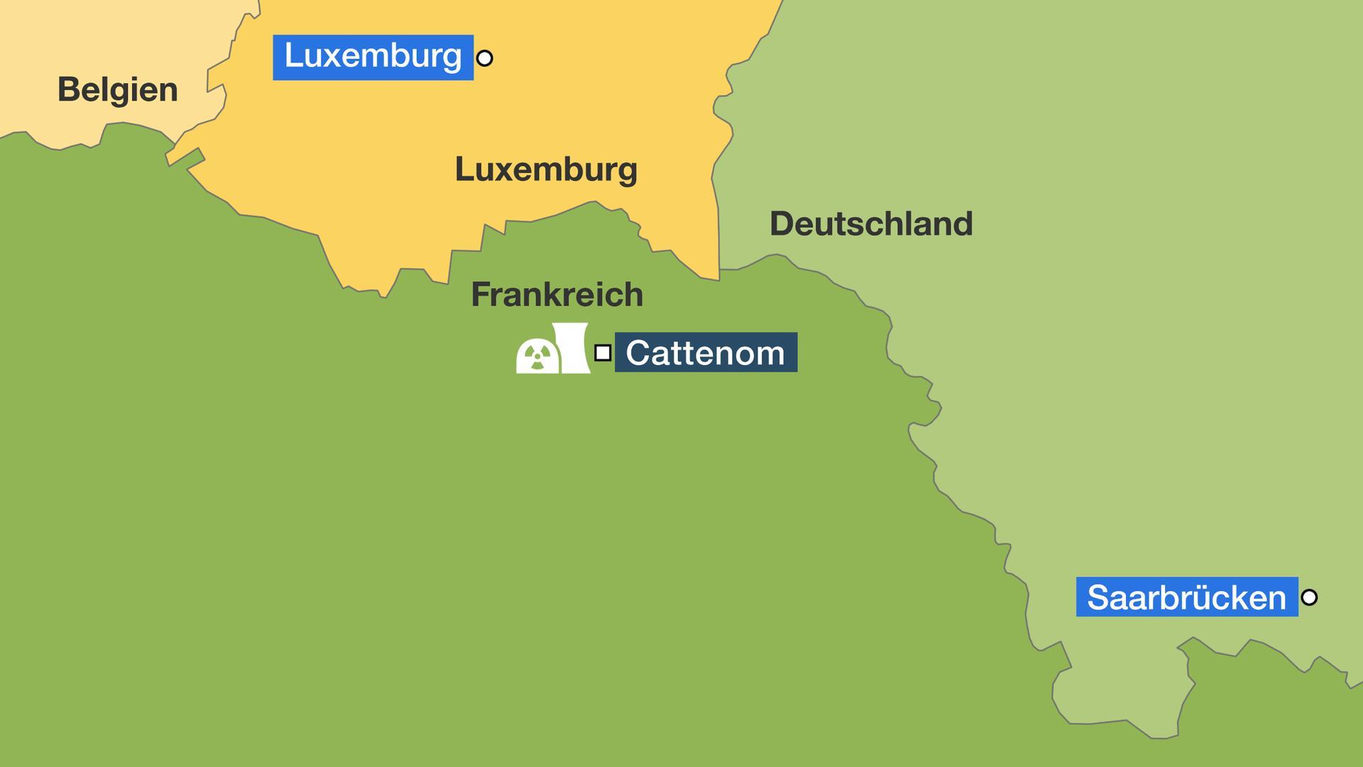 Atomkraftwerke Deutschland Karte.Streit Um Französisches Akw Grenzfall Cattenom Zdfmediathek