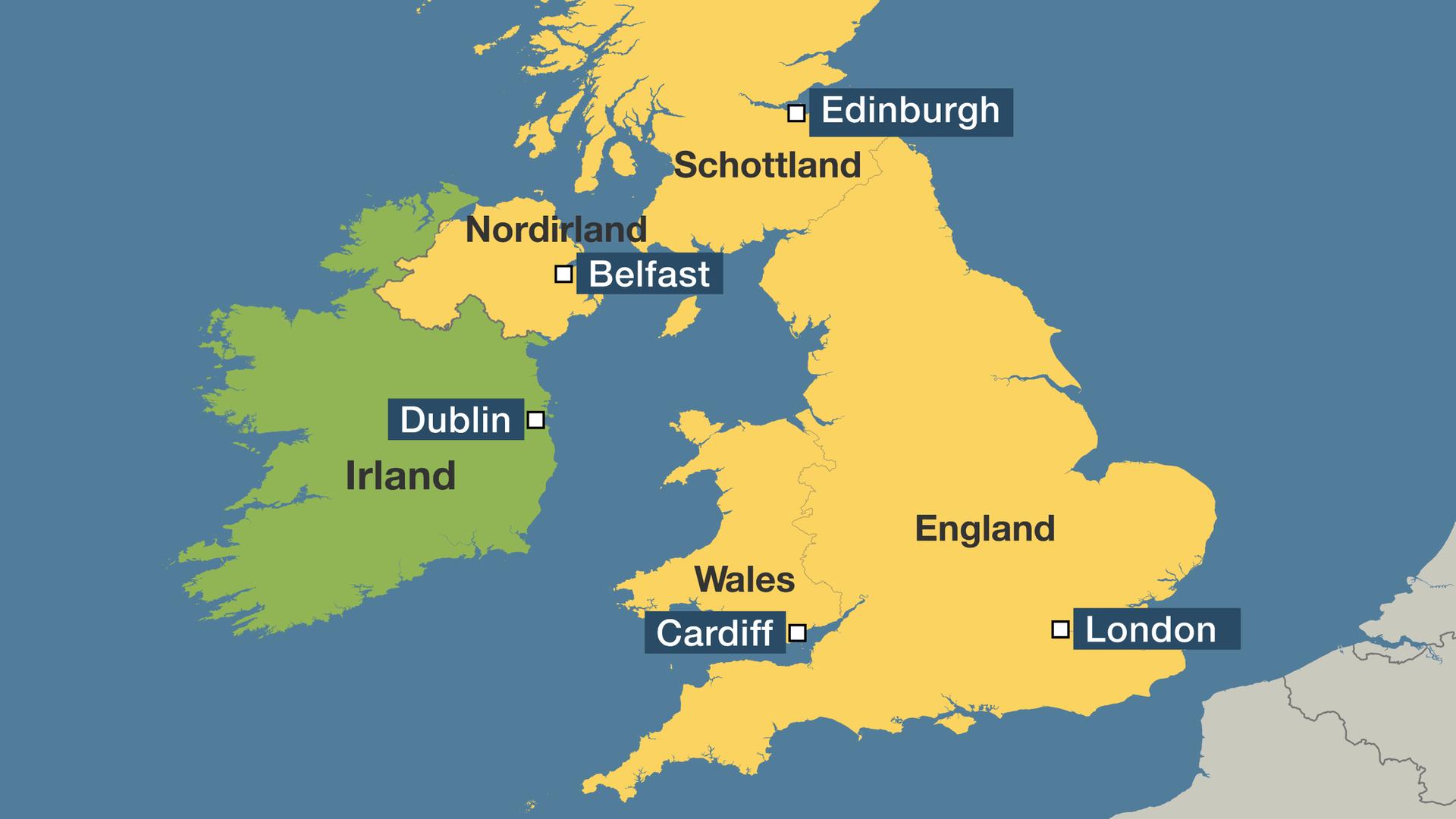 Großbritannien Karte Umriss.Fragen Und Antworten Zum Kompromiss Was Der Brexit Durchbruch