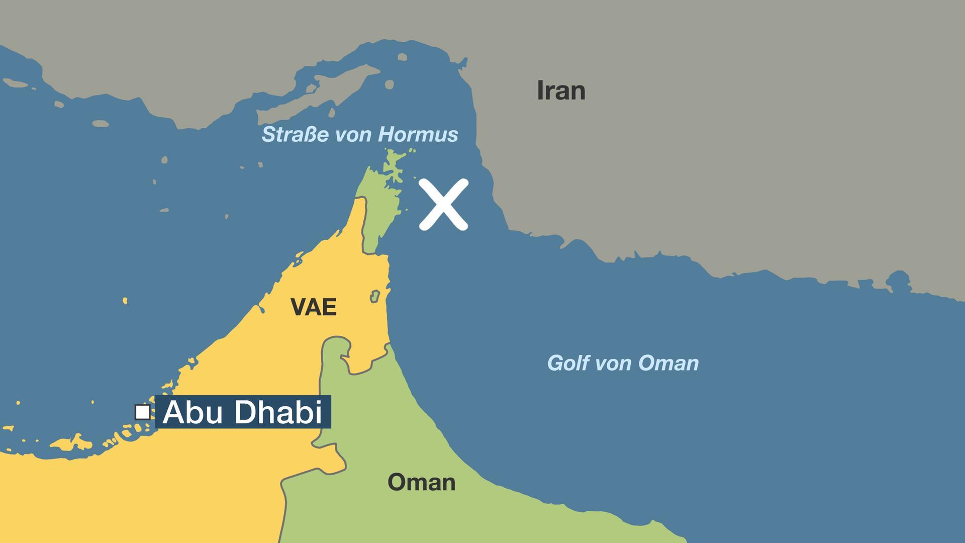Karte Oman.Straße Von Hormus Wichtige öl Transportroute Im Fokus Zdfmediathek