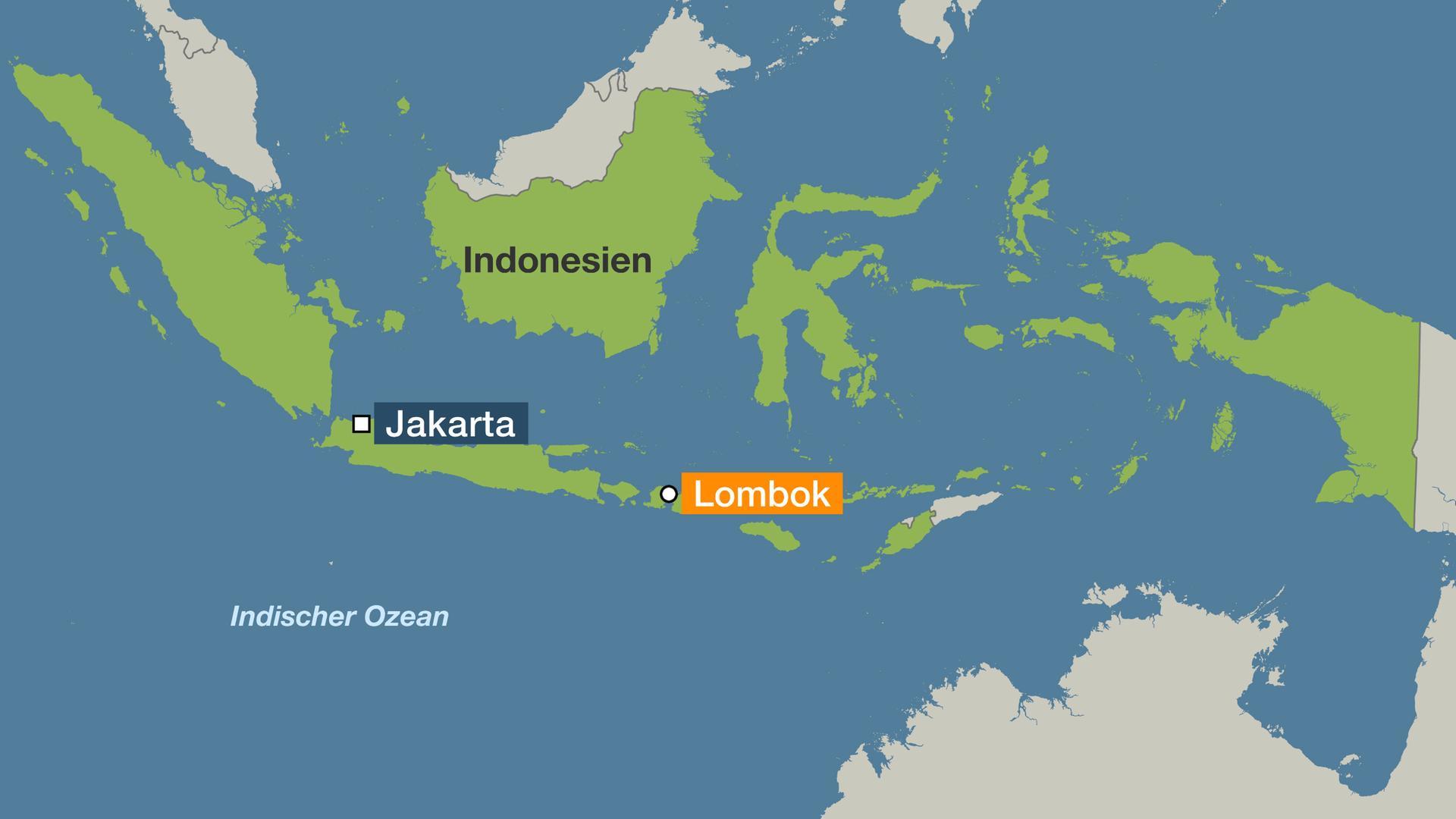 Indonesien Karte.Indonesien Mindestens 14 Tote Bei Erdbeben Auf Lombok