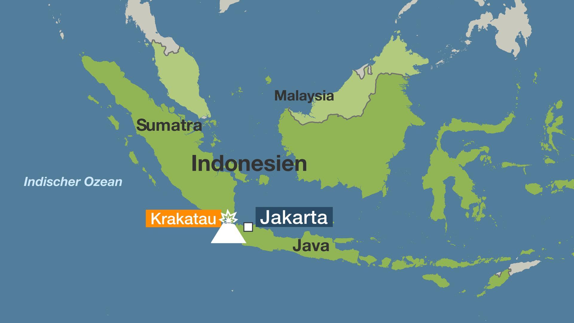 Vulkane Der Erde Karte.Erdbeben Und Vulkanausbrüche Indonesien Vulkanischer Hotspot Der