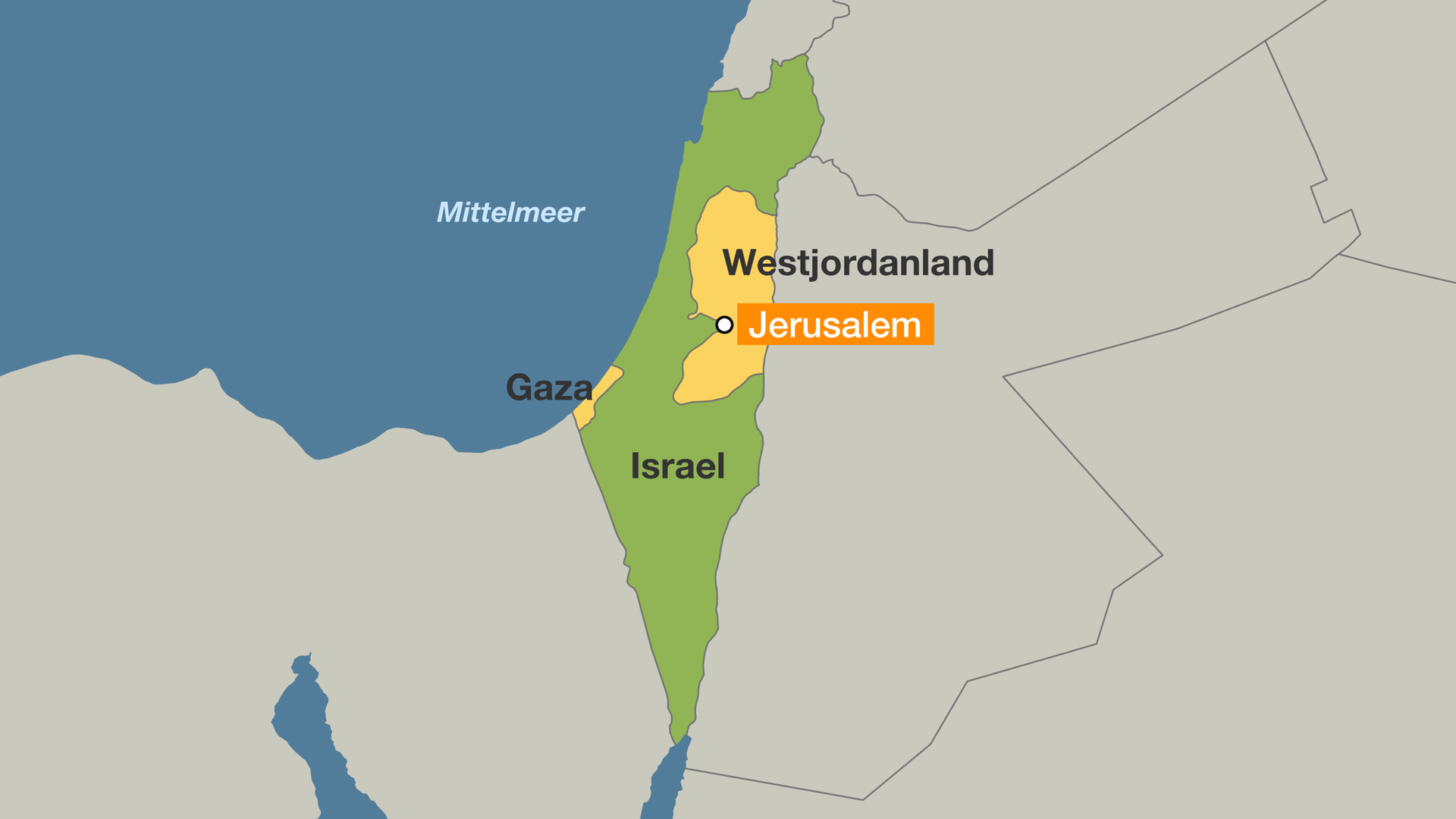 Israel Jerusalem Karte.Nach Unruhen Israel Offnet Grenzubergange Nach Gaza