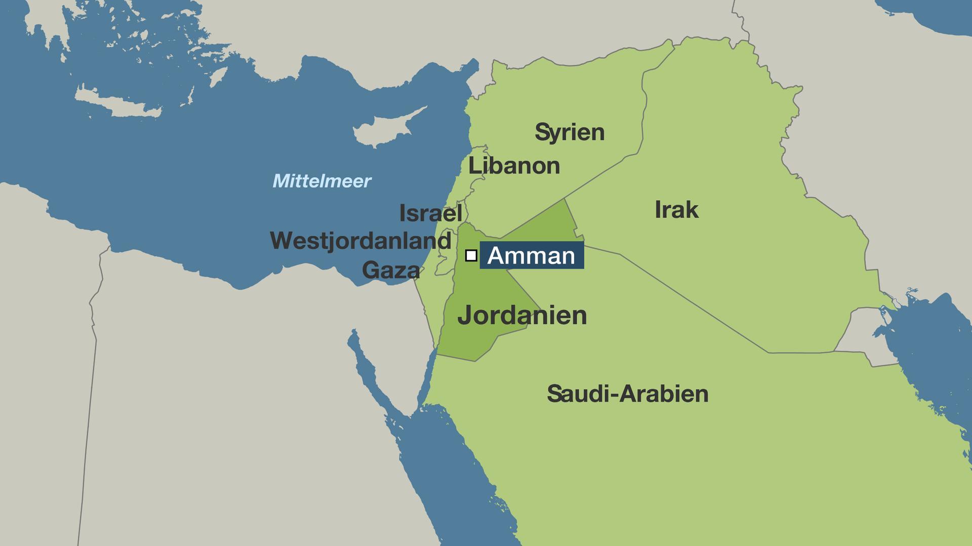 Jordanien Karte.Maas In Jordanien Von Konflikten Umzingelt Zdfmediathek