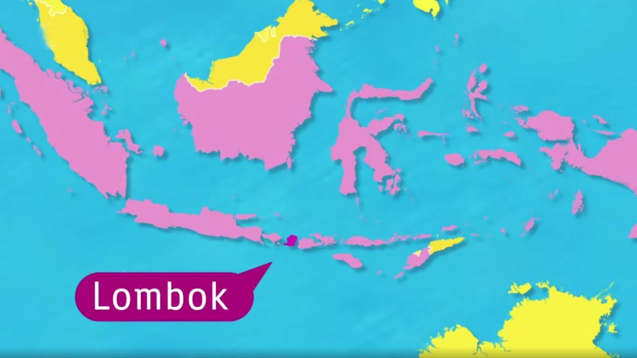 Indonesien Karte.Logo Erdbeben Erschuttert Lombok Zdfmediathek