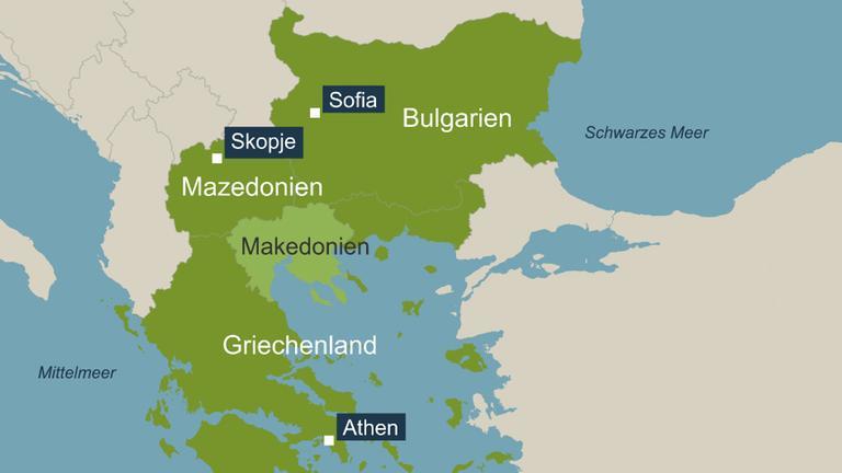 Mazedonien Karte.Namensstreit Griechisch Mazedonisches Tauwetter Zdfmediathek