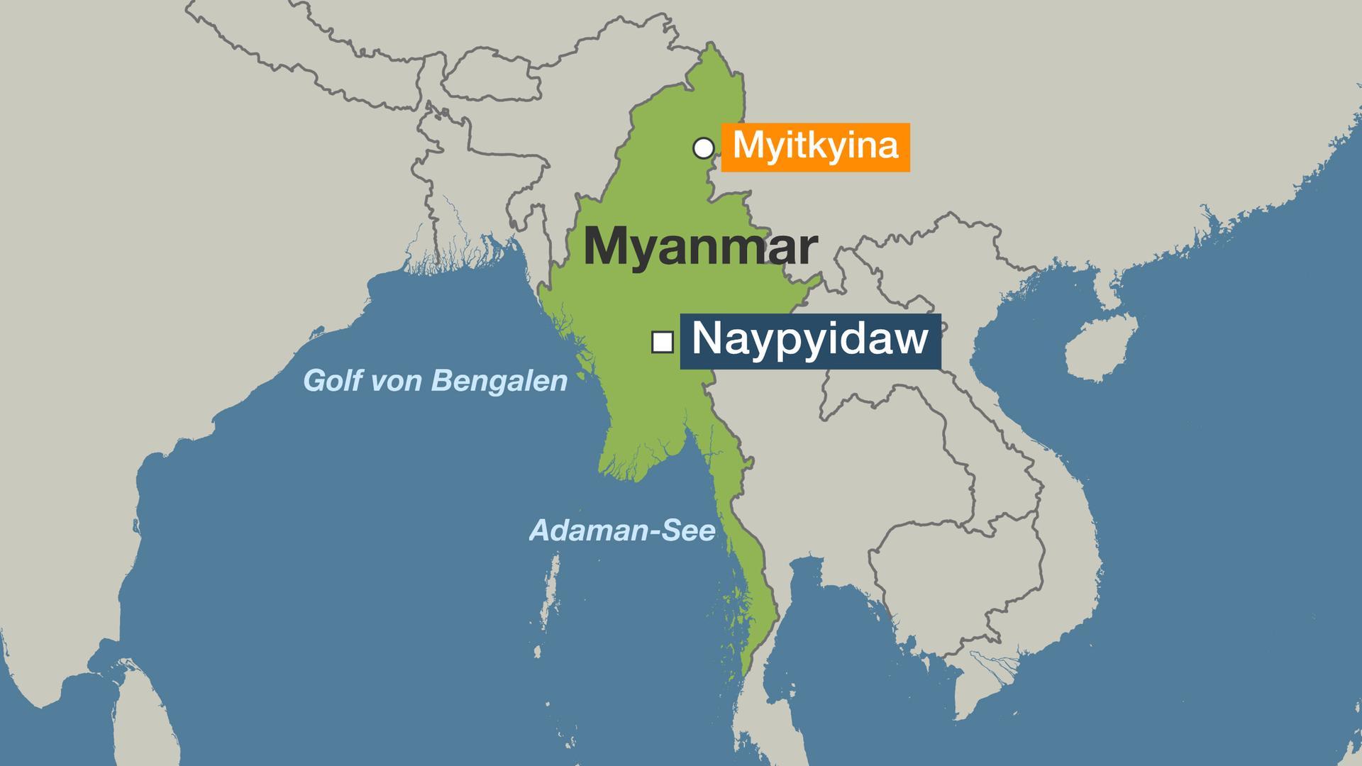 Karte Myanmar.Die Neue Seidenstrasse China Mega Staudamm In Myanmars Natur