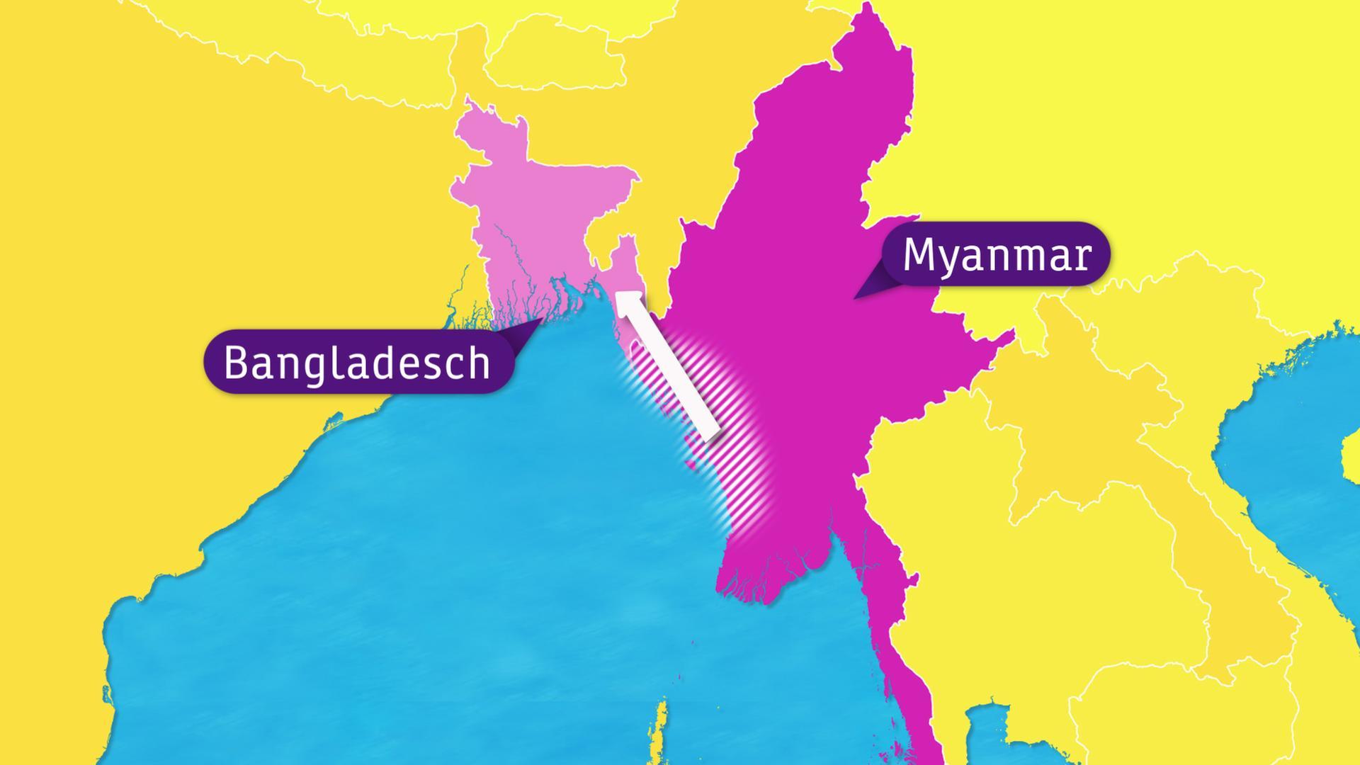 Karte Myanmar.Logo Rohingya Auf Der Flucht Zdfmediathek