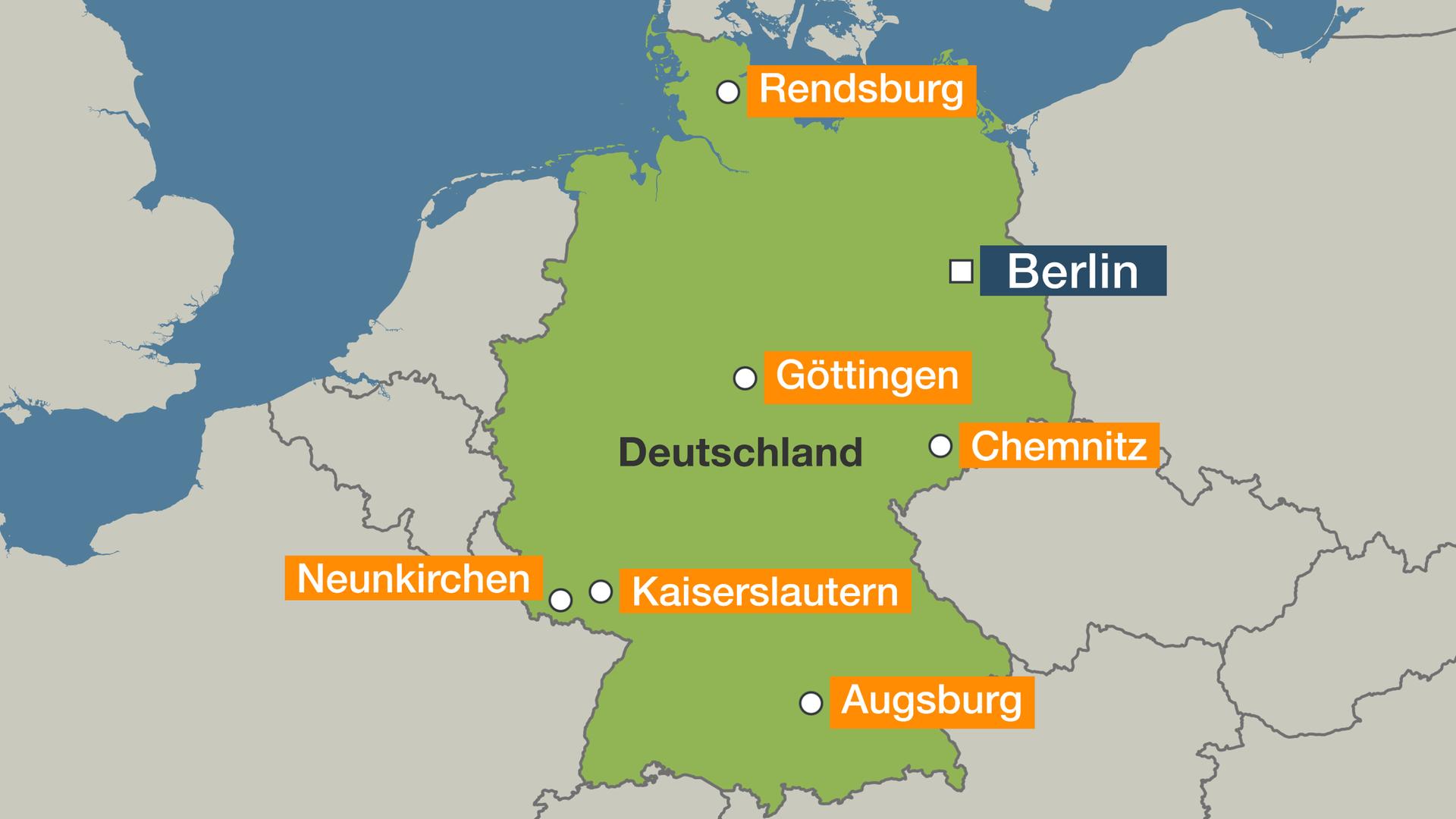 Schwanitz Schleswig Holstein Karte.Nach Bombendrohung Erste Stadte Geben Entwarnung Zdfmediathek