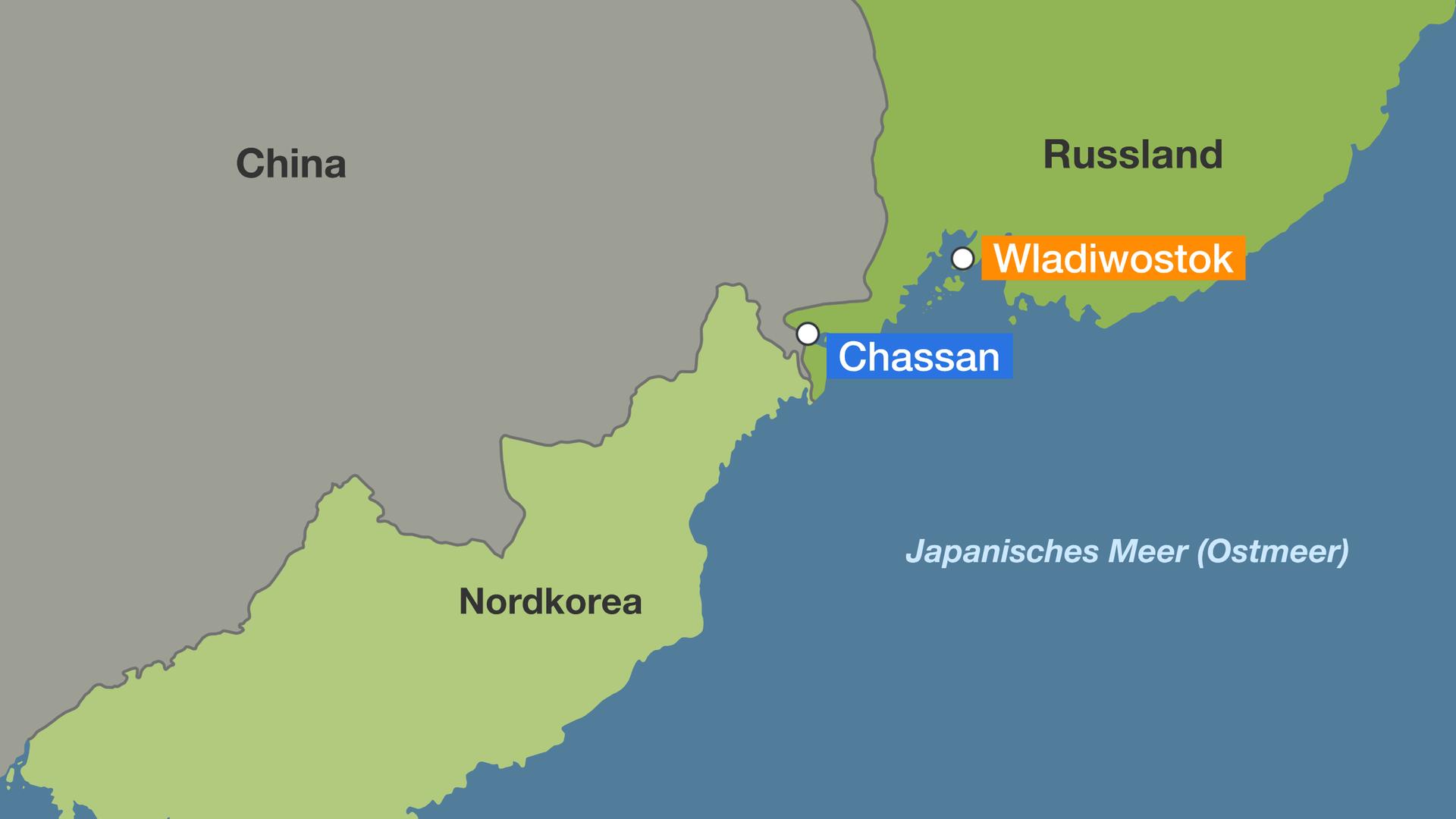 Karte Russland.Vor Treffen Von Kim Und Putin Russland Bereitet Sich Auf