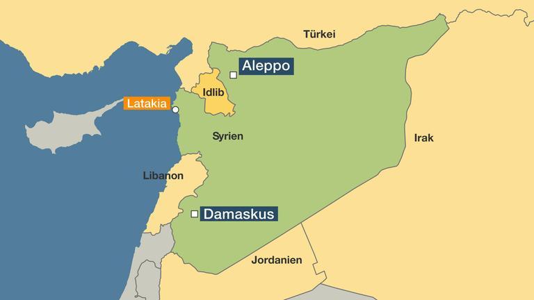 Syrien Karte Mit Städten.Nach Jahrelangem Bürgerkrieg Die Syrien Krise Ist Längst Nicht