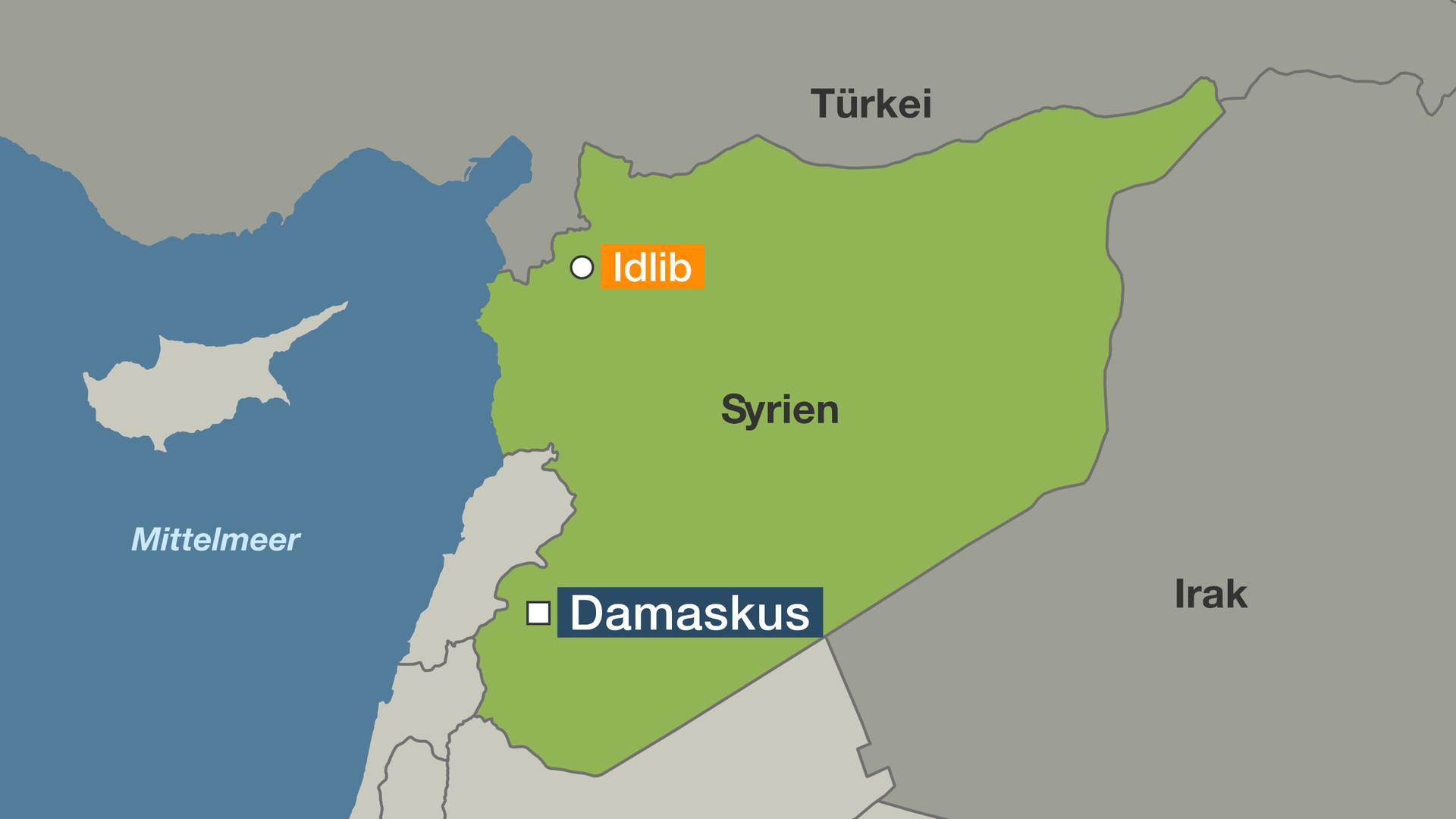 Syrien Karte Krieg.Bürgerkrieg In Syrien In Idlib Droht Entscheidungsschlacht