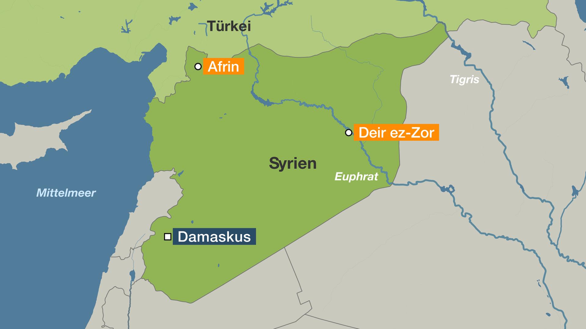 Kalter Krieg Karte.Stellvertreterkrieg Am Euphrat Syrien Zwischen Allen Fronten