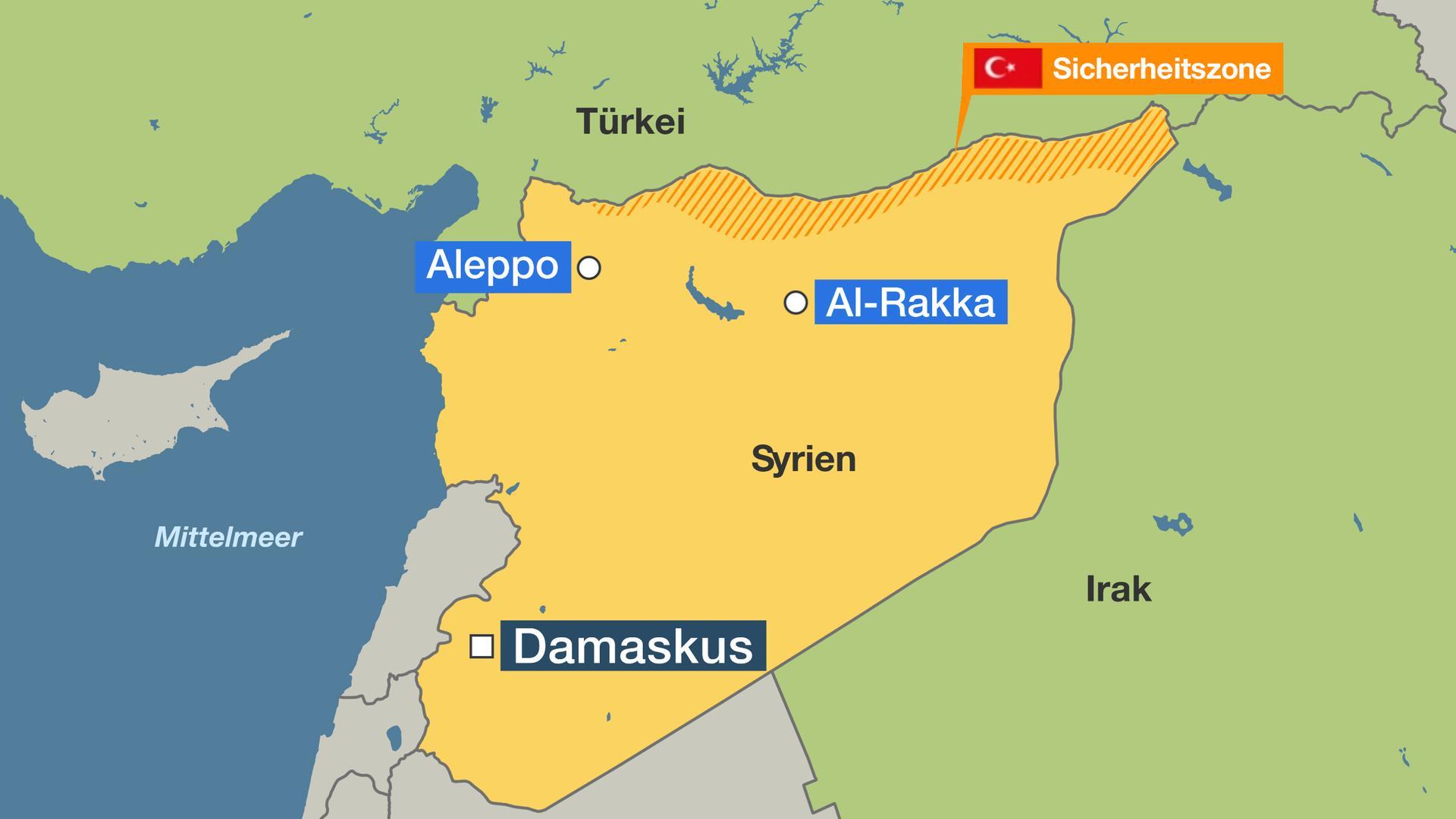 Syrien Irak Karte.Nordsyrien Turkei Beginnt Militaroffensive Zdfmediathek