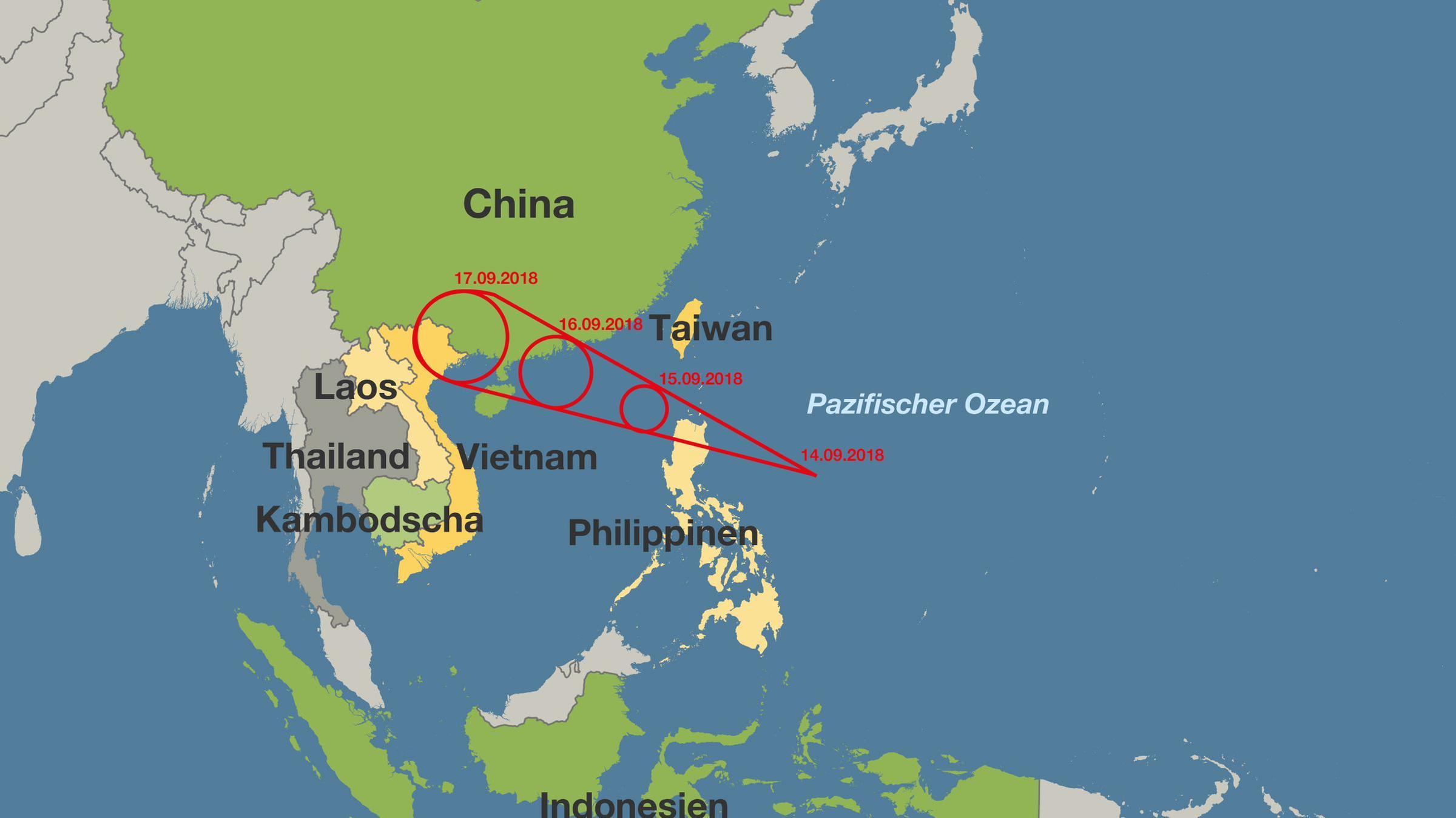 Karte Philippinen.Mehrere Tote Taifun Mangkhut Verwüstet Nord Philippinen