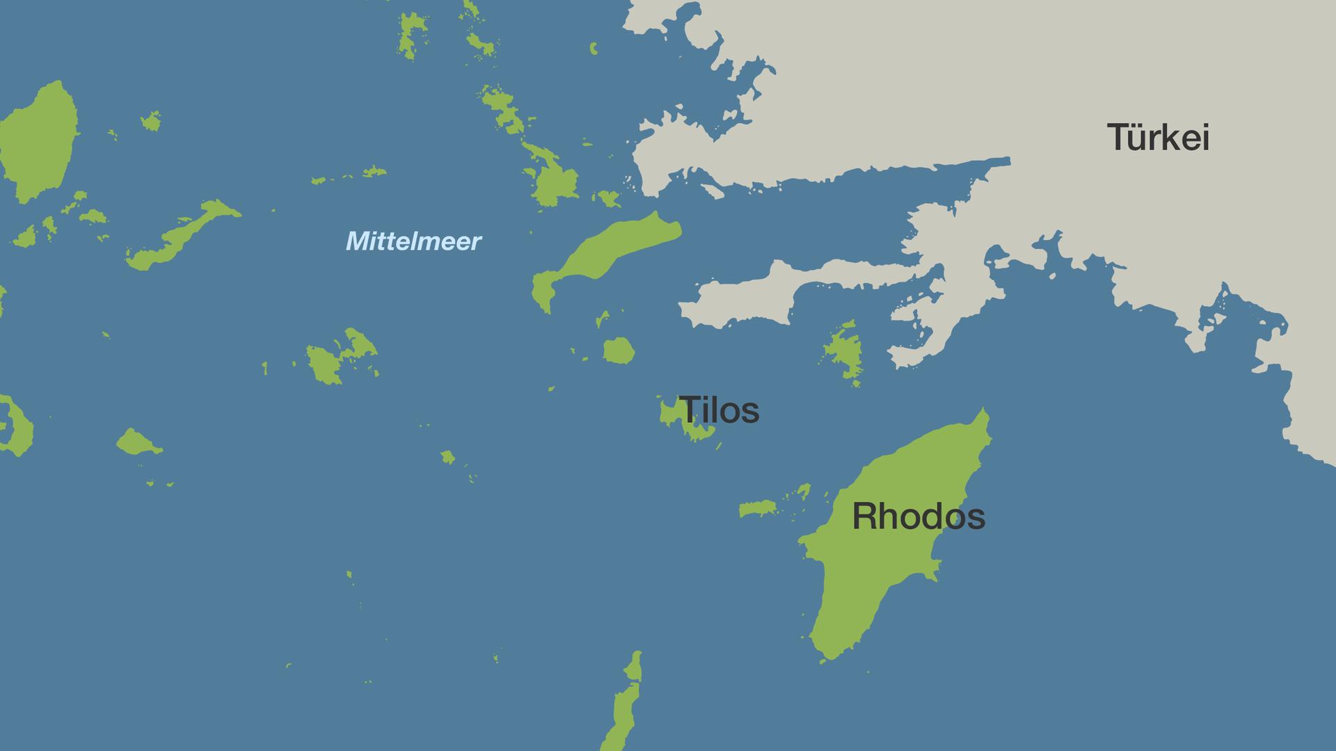 Mittelmeer Karte Inseln.Griechische Insel Tilos Setzt Komplett Auf Erneuerbare