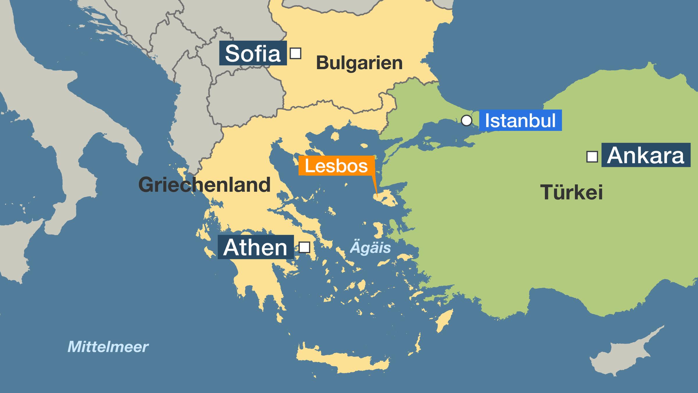 flüchtlingslager griechenland karte Griechische Grenze zur Türkei: Mit Tränengas gegen Flüchtlinge
