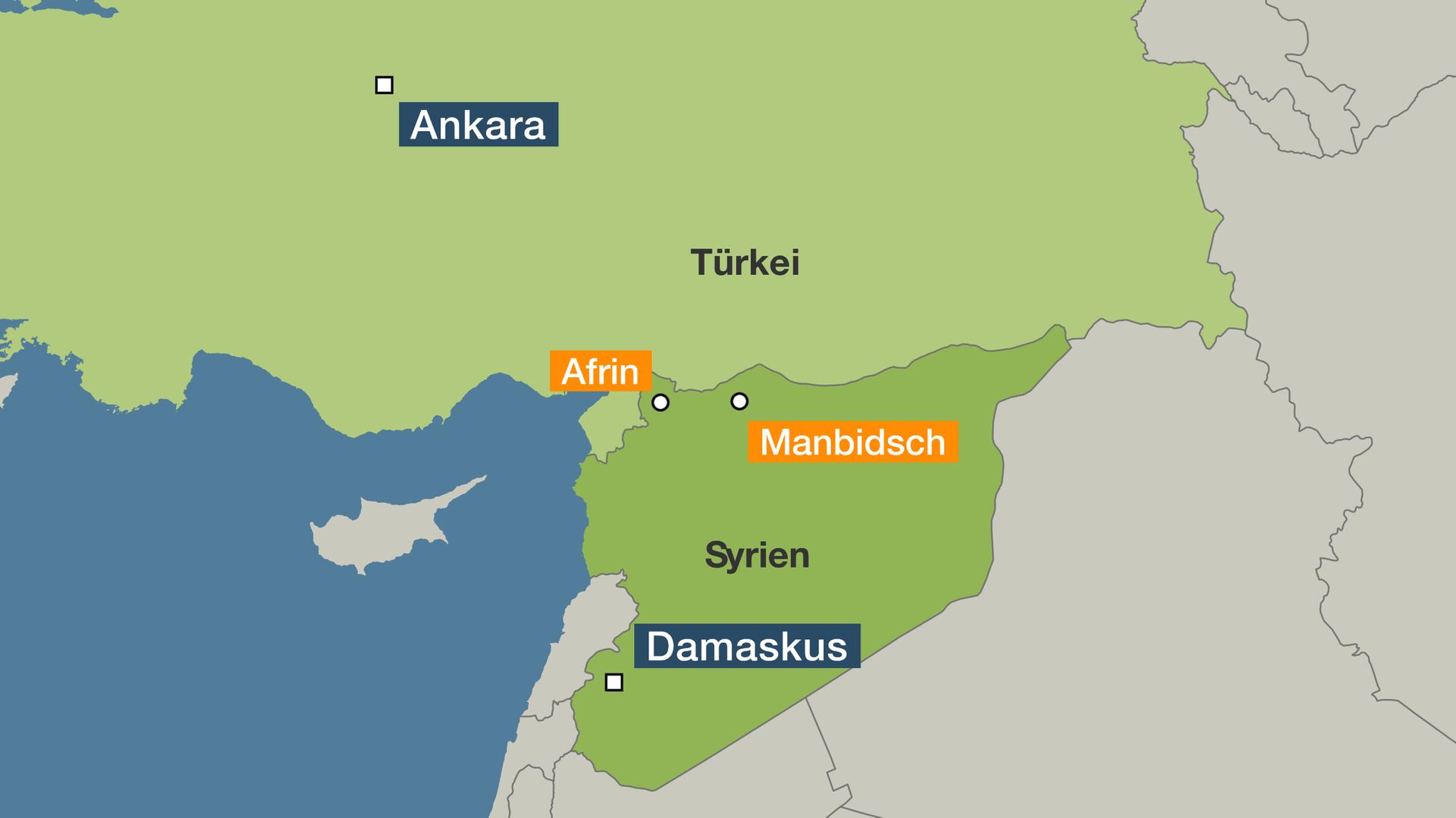 Syrien Karte Mit Städten.Kurden Bitten Assad Um Hilfe Neu Gemischte Karten In Syriens Norden