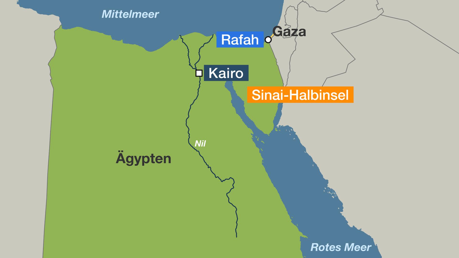 sinai halbinsel karte Sinai Halbinsel: Ägypten: Ratlos im Kampf gegen Extremisten