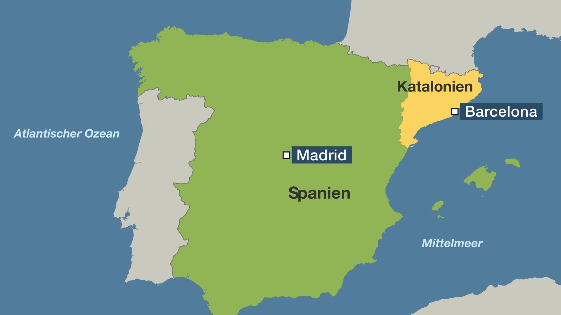 Spanien Katalonien Karte.Hintergrund Katalonien Für Spanien Kaum Zu Kontrollieren