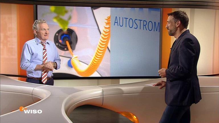 Andreas Keßler im WISO-Studio mit Marcus Niehaves