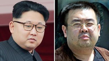 Kim Jong Un (links) und sein Halbbruder Kim Jong Nam (recht
