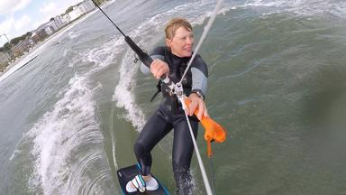 Kite-Surferin vor Heiligendamm