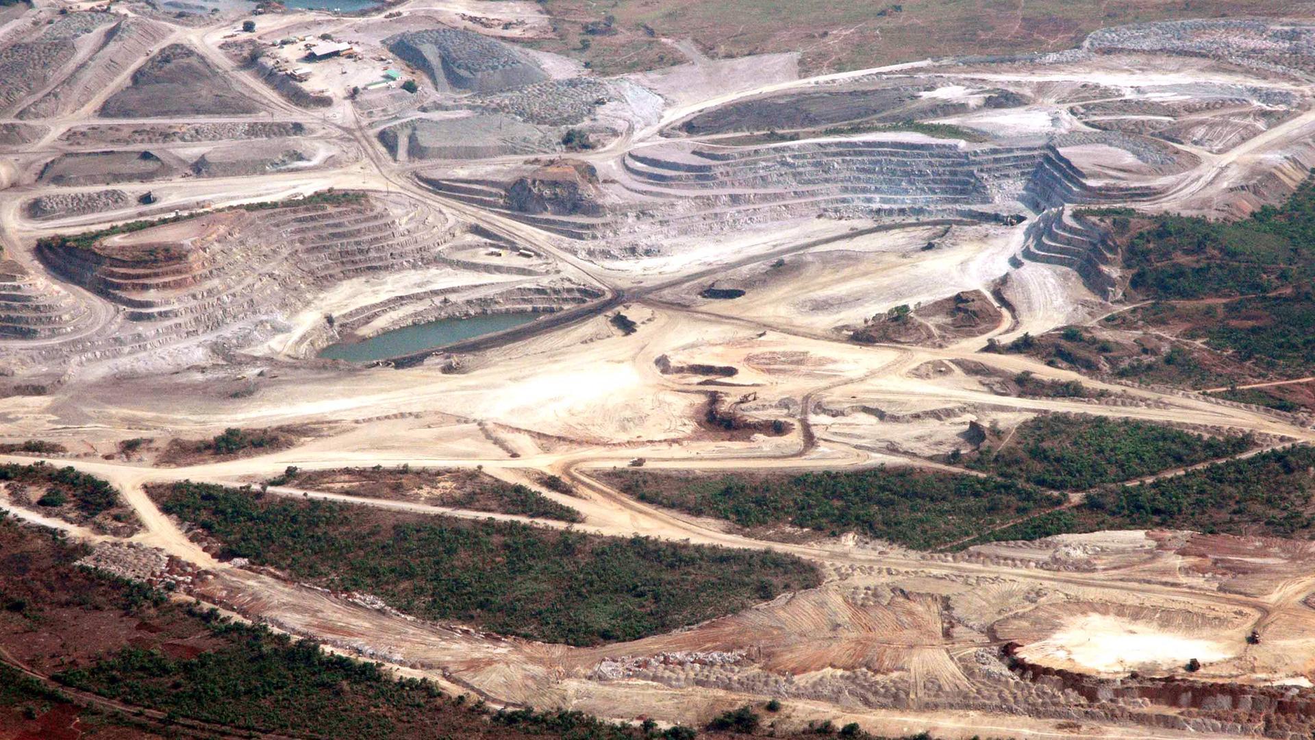 Kobalt-Mine in Luswishi im Kongo