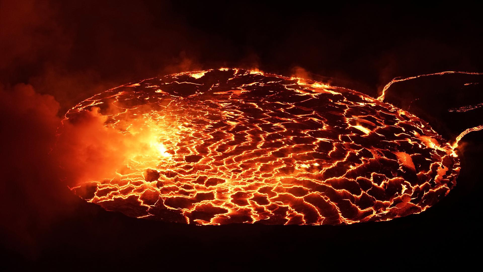Lavasee im Krater des Nyiragongo
