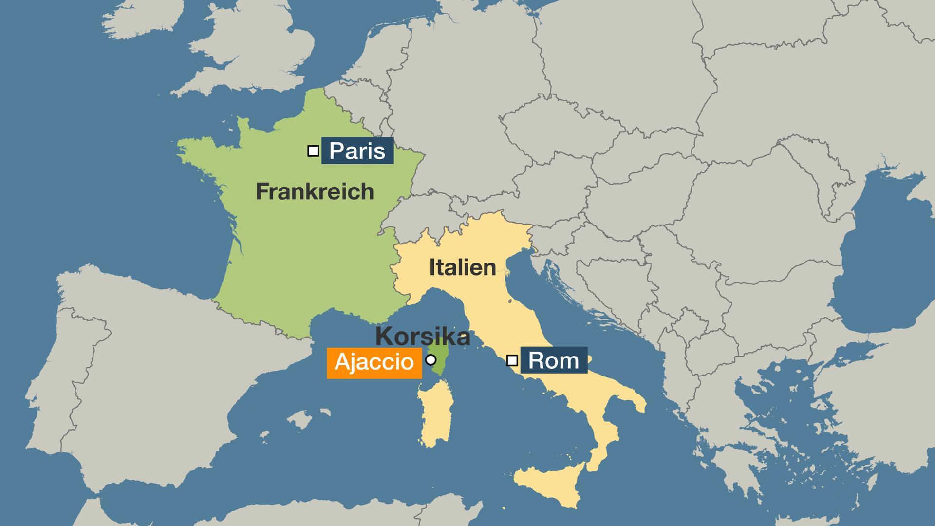 korsika karte 600 Tonnen Treibstoff im Meer: Ölteppich treibt auf Korsika zu  korsika karte