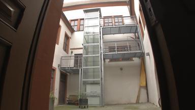 Aufzug im Stendaler Rathaus