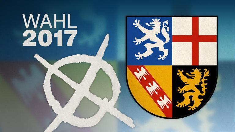 Wahlkreuz und Wappen Saarland