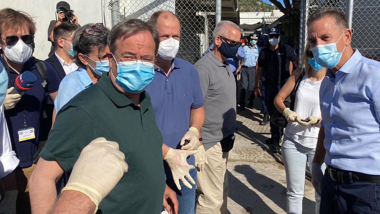 Laschet bricht Besuch in Flüchtlingscamp in Moria ab