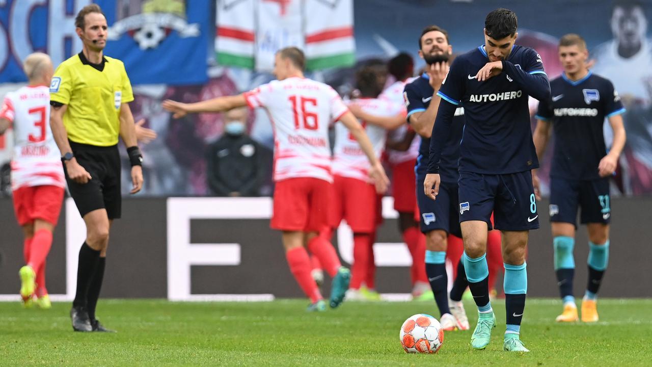 6. Bundesliga-Spieltag: Hertha geht in Leipzig unter