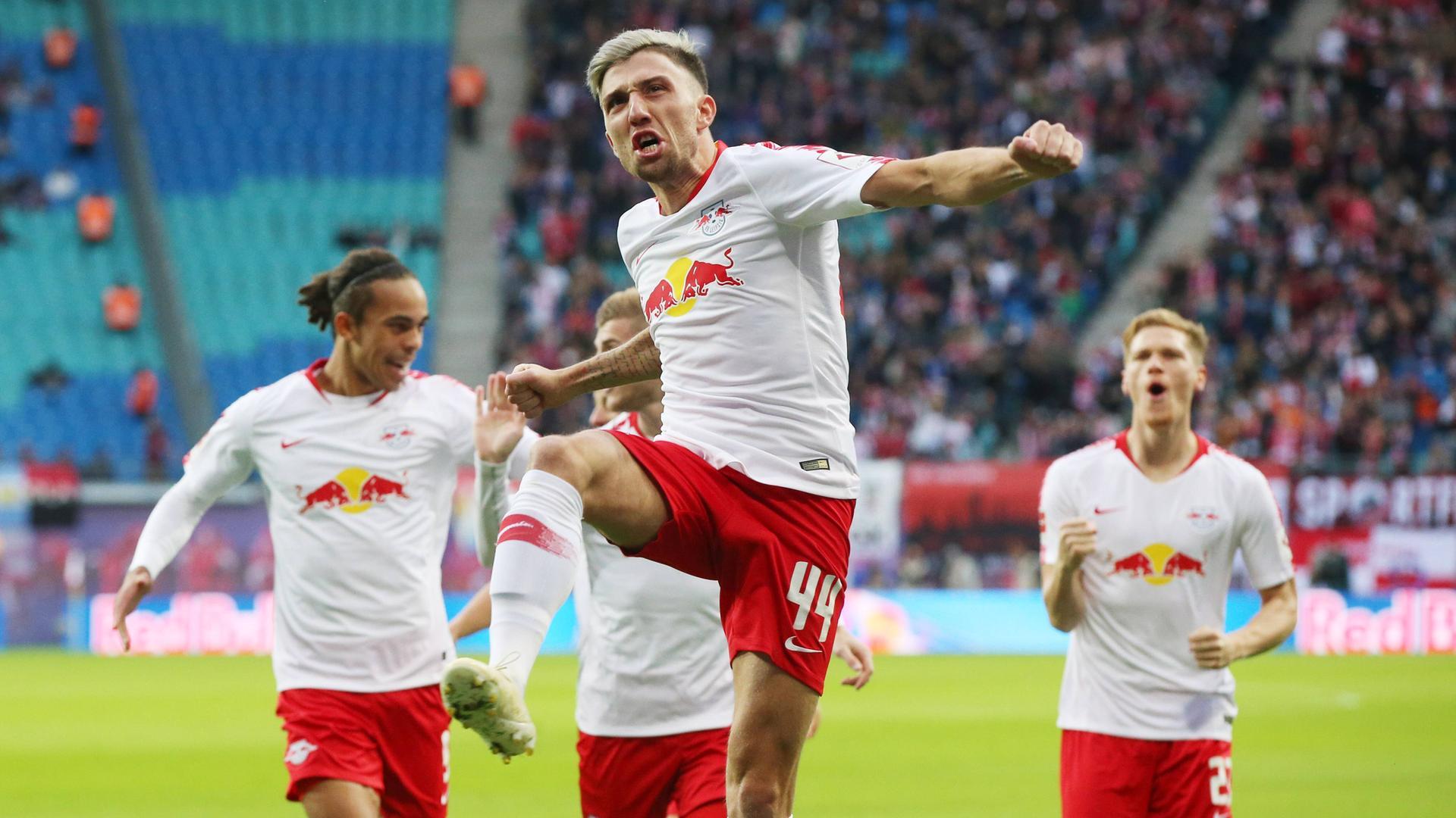 Fuball Bundesliga Zusammenfassung Des 7 Spieltags Zdfmediathek 1 0 Leipzigs Kevin Kampl Jubelt Nach Dem Tor Zum 10