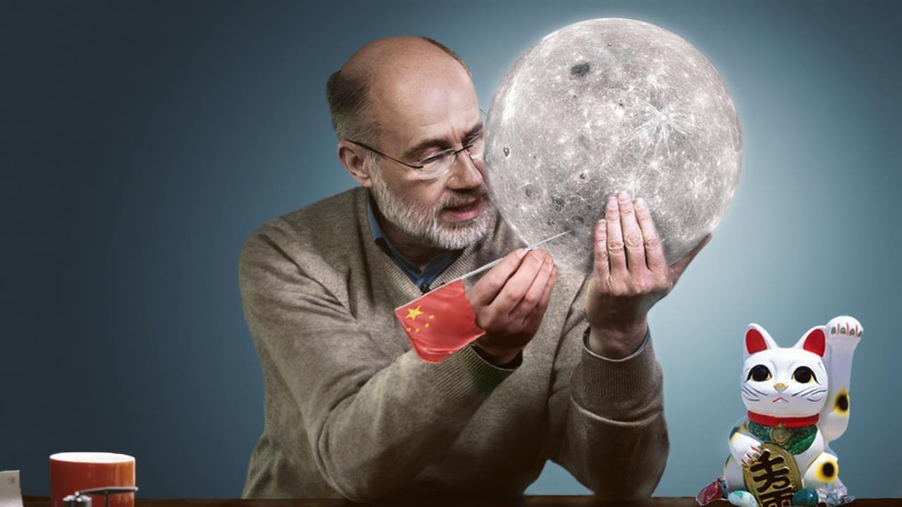 Chinesen Auf Dem Mond