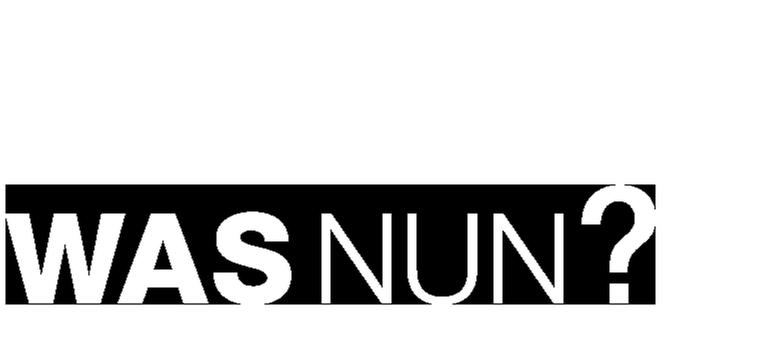 Was nun? Logo white