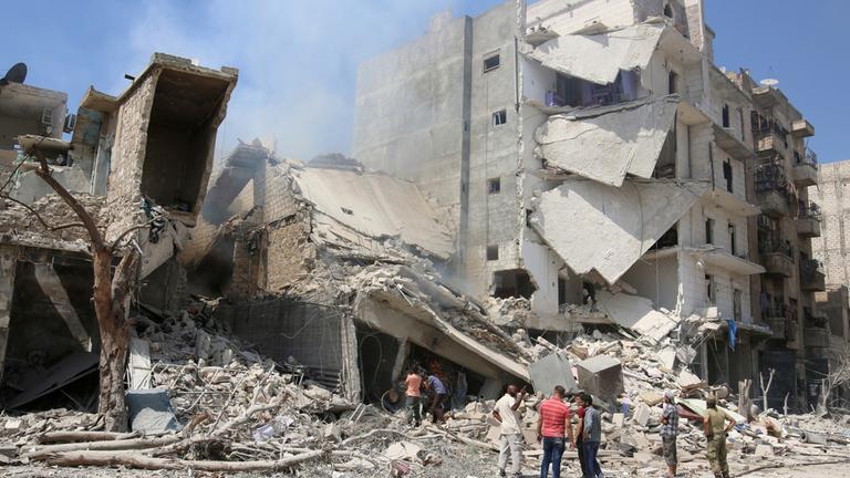 Luftangriff in der Nähe von Aleppo