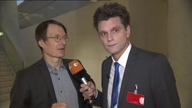 Kennen sich so gut nun wieder auch nicht: Prof. Karl Lauterbach (l.) und Lutz van der Horst