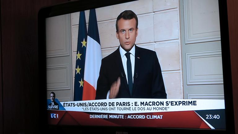 Ansprache Macrons zum Ausstieg der USA aus dem Klimapakt