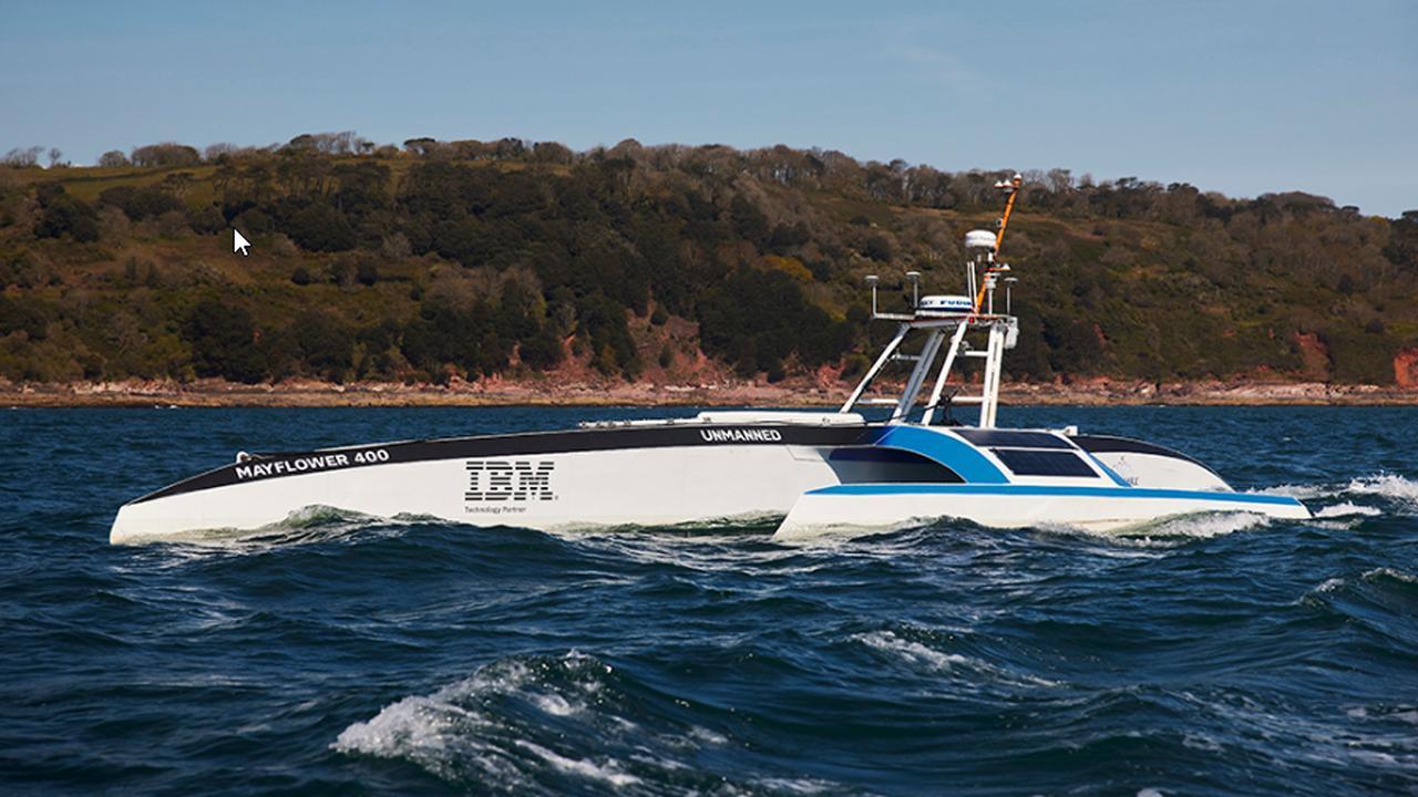 """Mayflower 400"": Käpt'n Smart: Ohne Crew über den Atlantik"